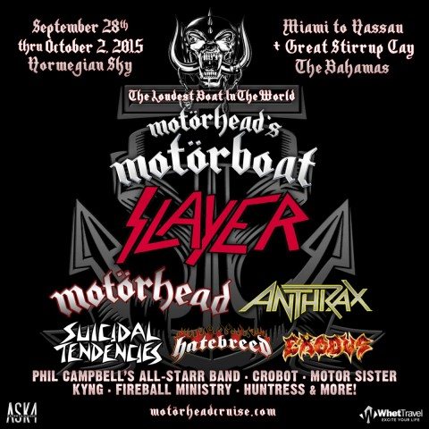 Tickets for Motörhead's MotörBoat festival are available for sale