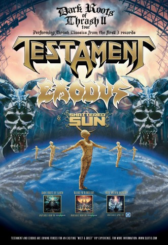 Testament: North American tour dates with Exodus and Shattered Sun