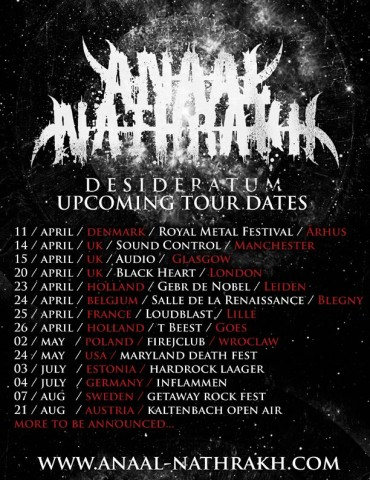 Anaal Nathrakh announces European and North American tour dates