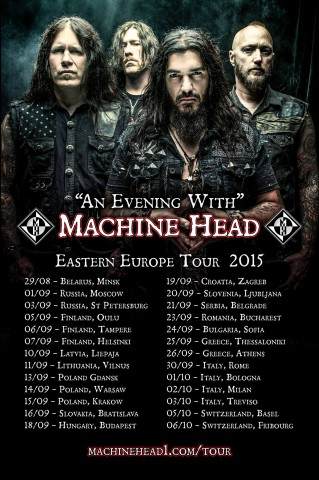 Machine Head announce Eastern European tour