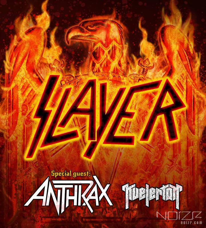 Slayer, Anthrax and Kvelertak will give joint shows in Europe
