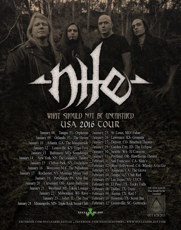 Nile USA 2016 Tour