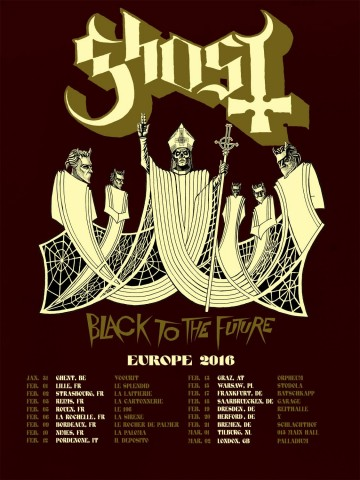Ghost announce first 2016 European tour dates