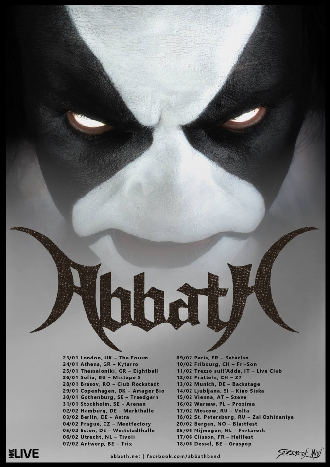 Abbath European Tour