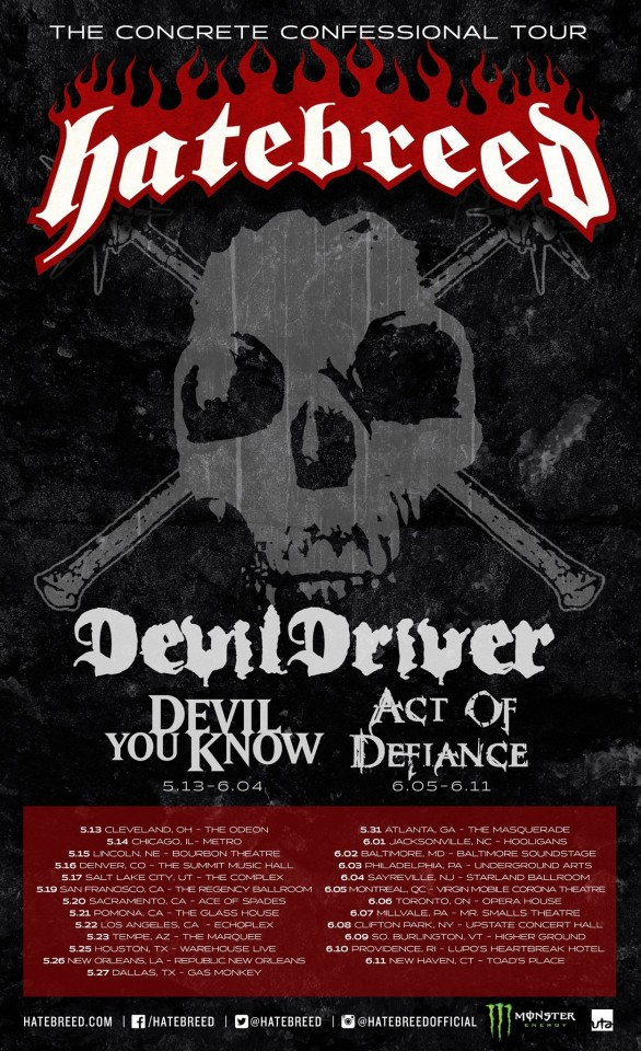 Devil You Know Hatebreed Tour