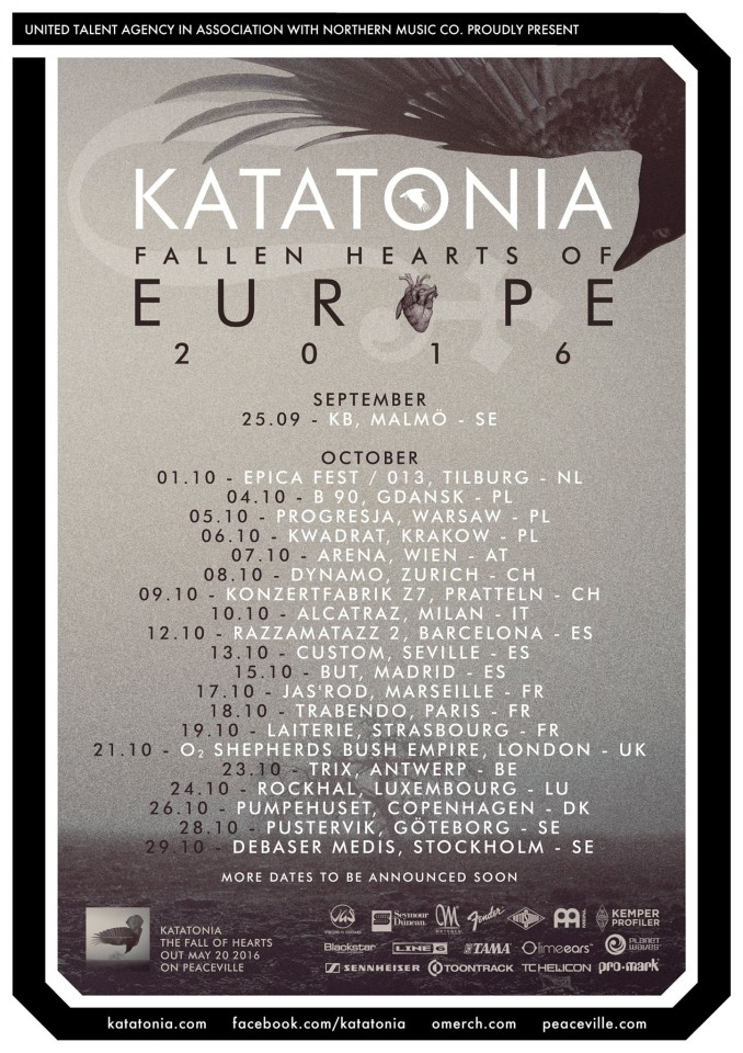 Katatonia Tour 2016