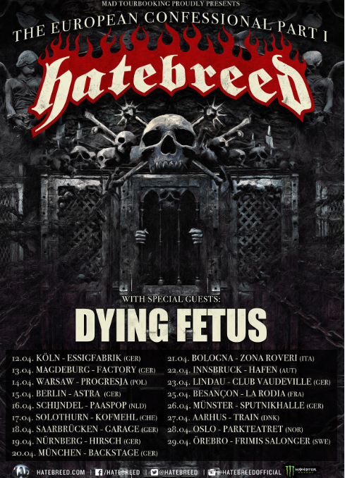 Dying Fetus Hatebreed Tour