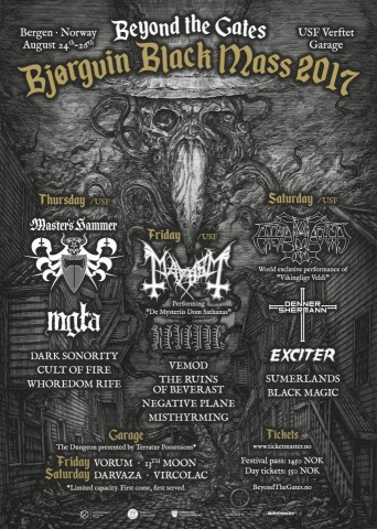 Beyond the Gates fest feat. Enslaved, Mayhem, Master's Hammer, etc. to be held on August 24-26 in Norway