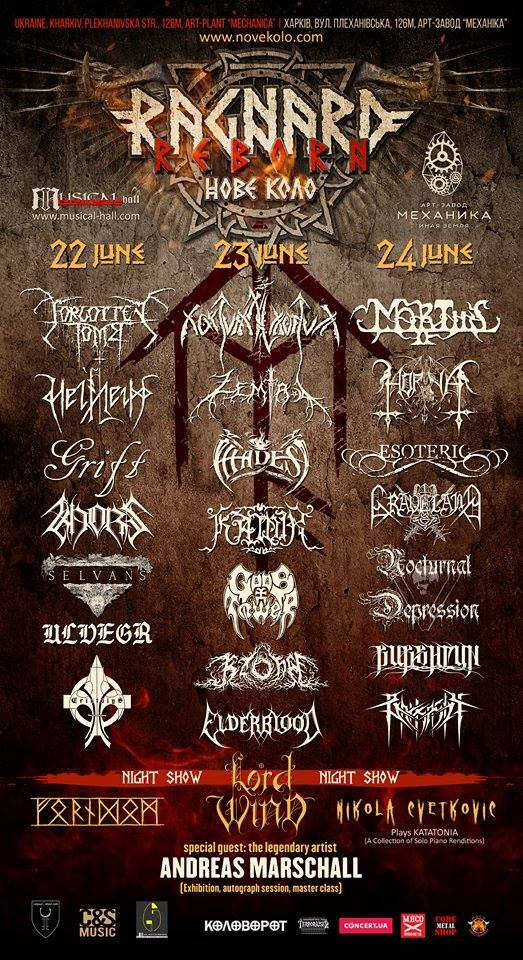 У червні відбудеться фестиваль Ragnard Reborn Нове Коло за участю Forgotten Tomb, Nokturnal Mortum, Horna та інших