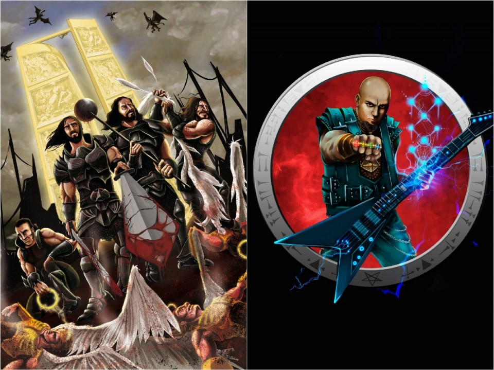 Rotting Christ and Melechesh appears in comic books