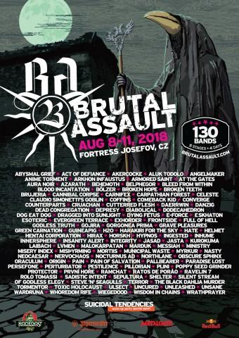 8-11.08.2018 Brutal Assault @ Fortress Josefov, Jaromer, Czech Republic