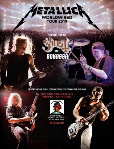 Ghost відправляться у спільне європейське турне з Metallica наступного літа