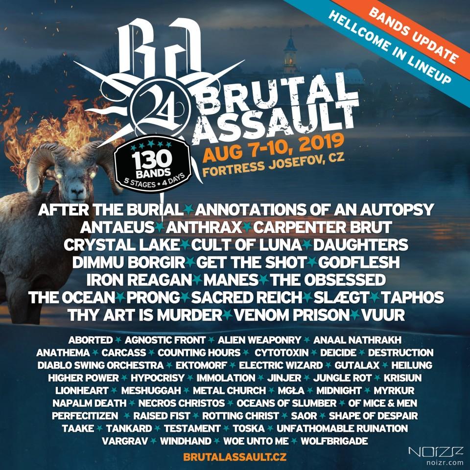 Brutal Assault анонсував нові гурти на 2019 рік