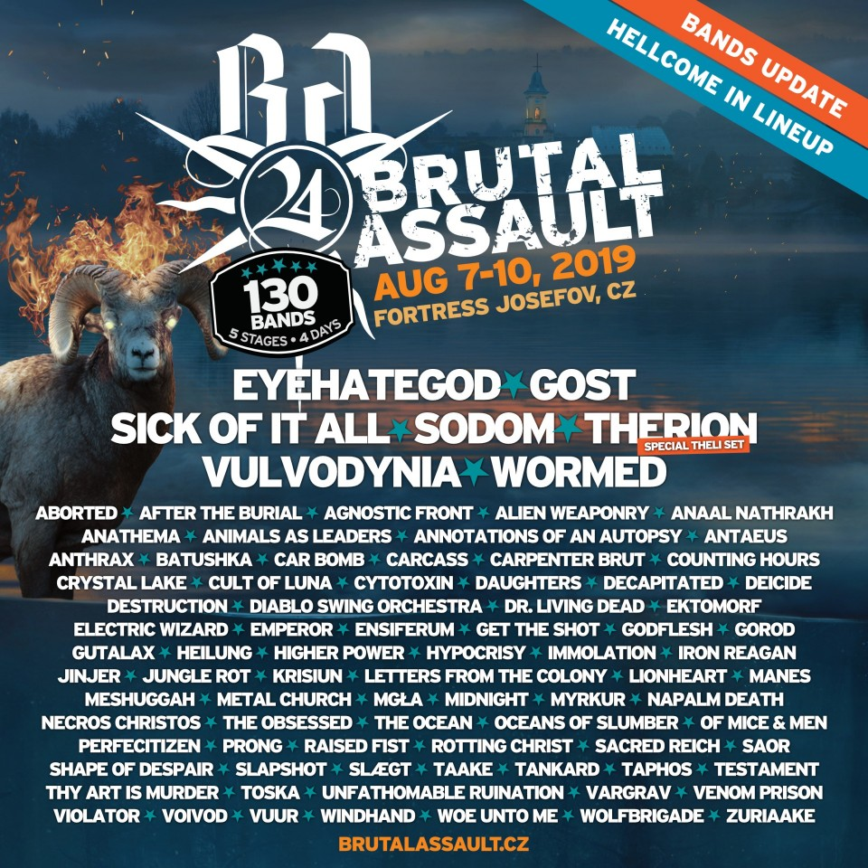 Brutal Assault 2019: Announcement of new bands and live video with Insanity Alert