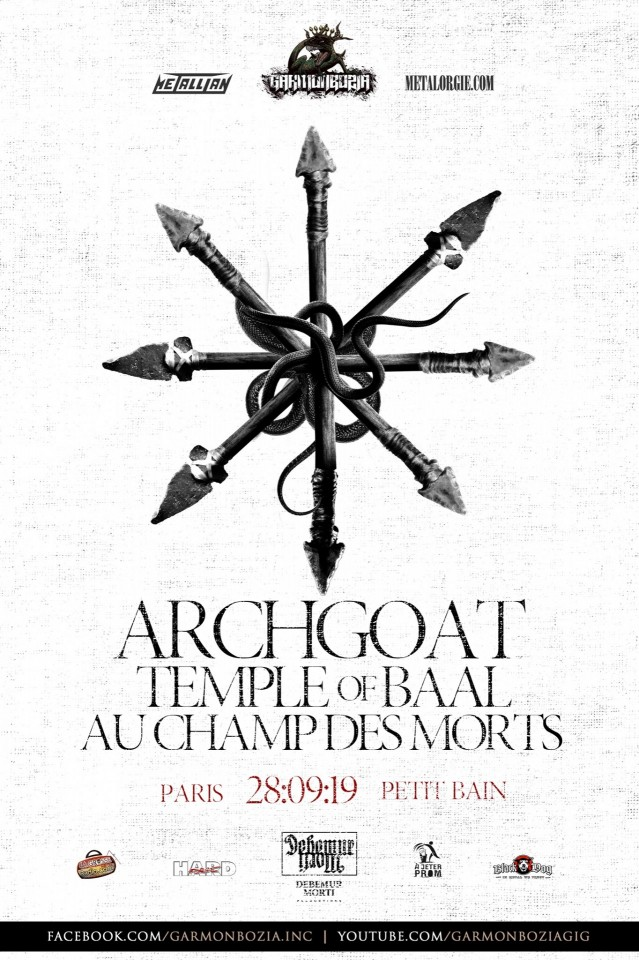Archgoat to celebrate its 30th anniversary on September 28 with gig in Paris