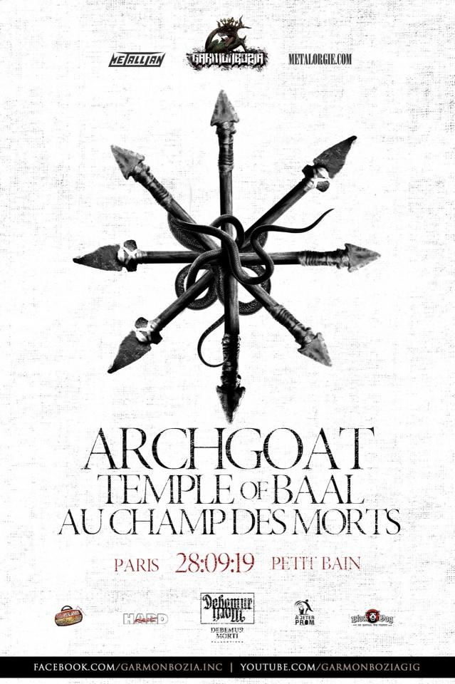 Archgoat отпразднуют 30-летие концертом в Париже 28 сентября