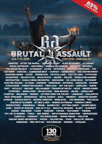 7-10.08.2019 Brutal Assault @ Fortress Josefov, Jaromer, Czech Republic