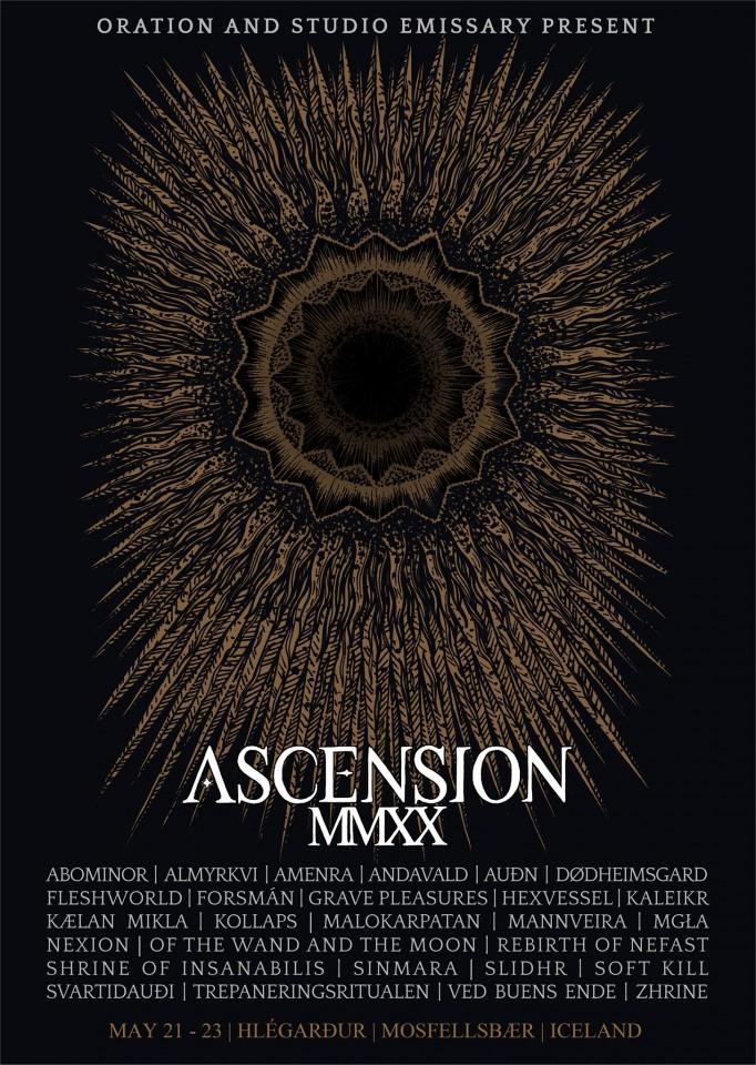 З 21 по 23 травня в Ісландії відбудеться блек-метал-фестиваль Ascension MMXX