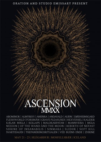 Ascension MMXX, dedicated to black metal music, to be held in Iceland on May 21-23