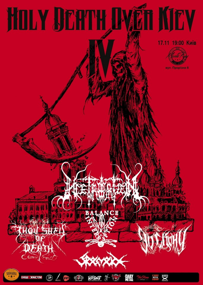 Holy Death Over Kiev IV to be held on November 17 feat. bands from Sweden, Estonia, and Ukraine
