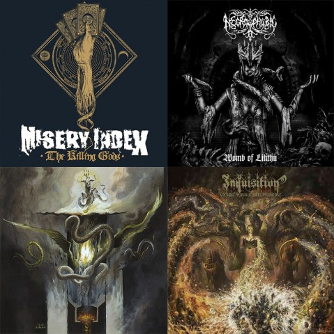 Full album streams: Inquisition, Necrophobic, Gorguts, Misery Index and Nightbringer