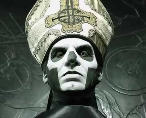 "Ghost show 'new' vocalist in the video ""Hello Papa Emeritus III"""