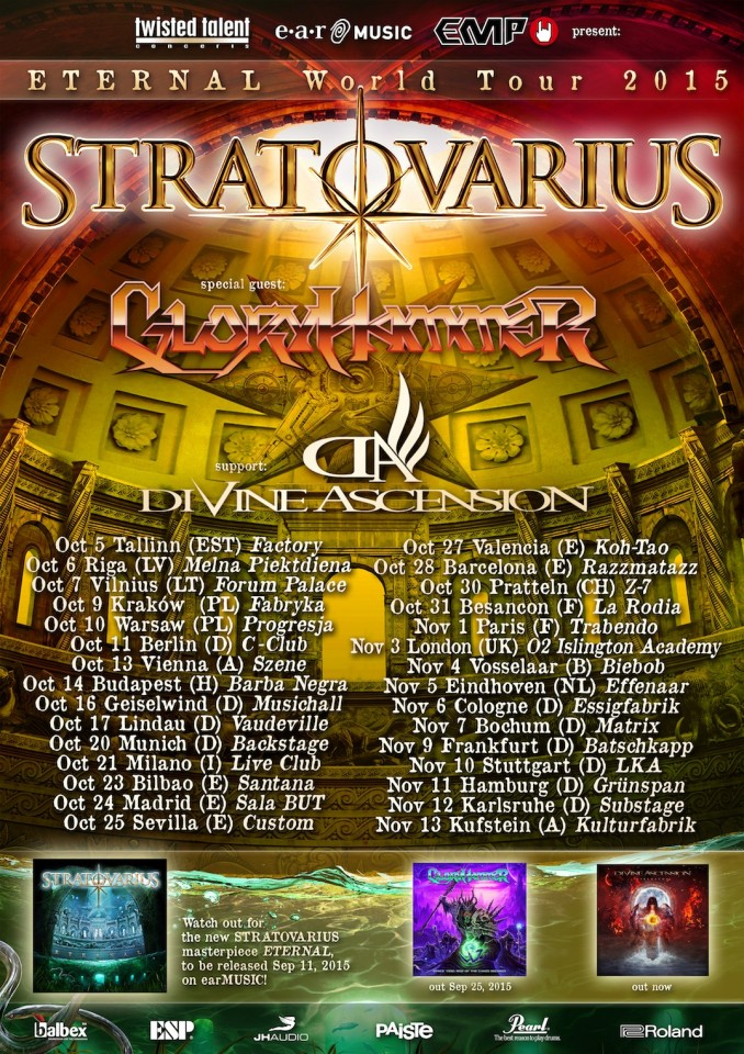 Stratovarius tour 2015