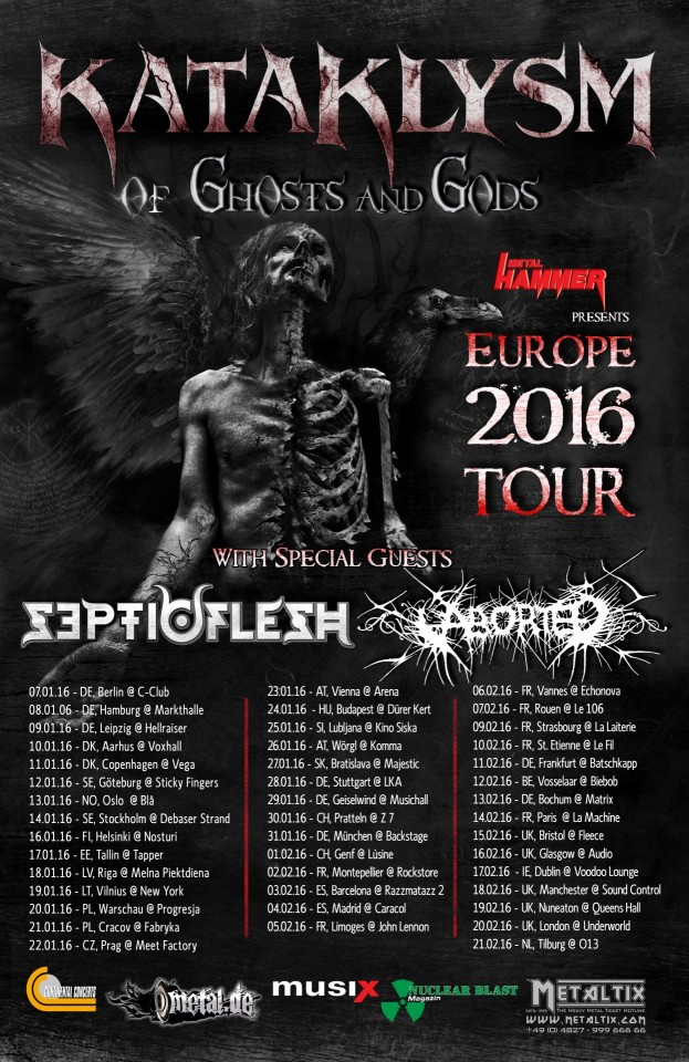 Kataklysm Septicflesh Aborted tour 2016