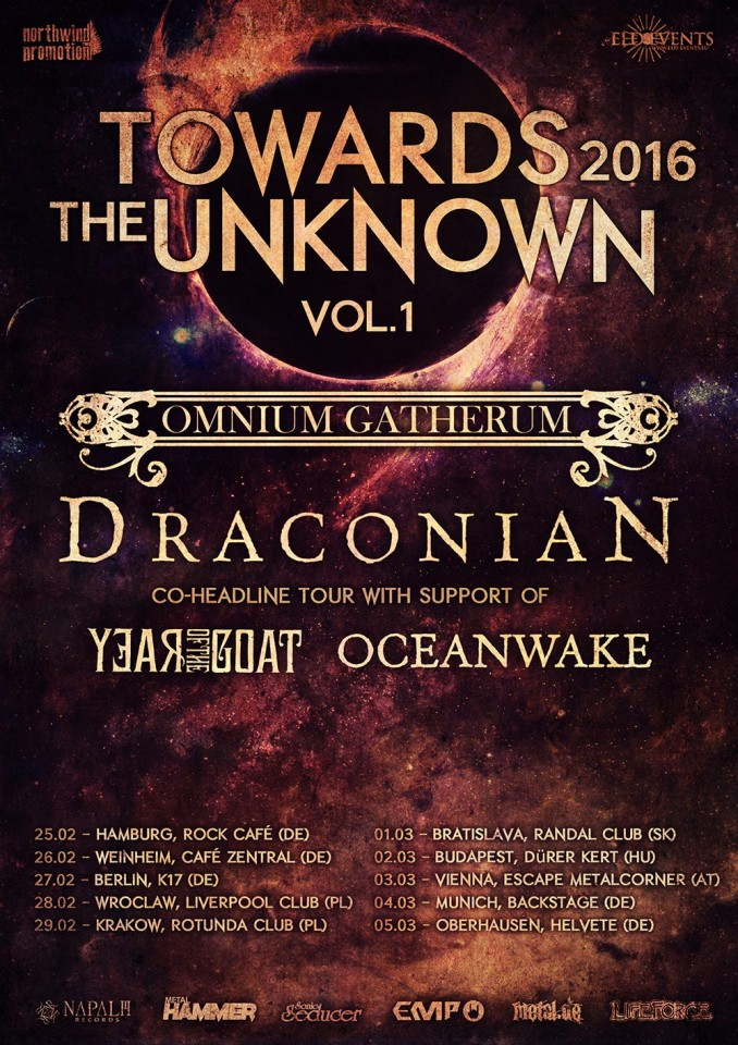 Draconian Tour dates 2016