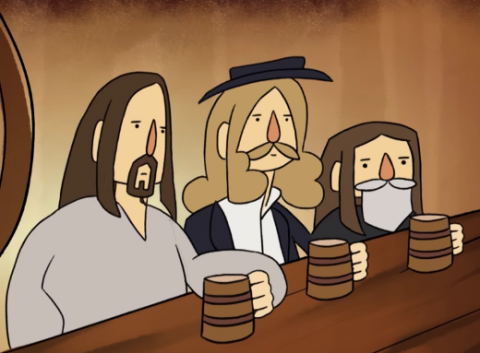 "Korpiklaani представили анимационный клип-пародию ""A Man With A Plan"""
