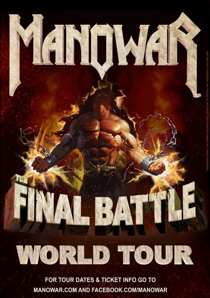Manowar The Final Battle World Tour 2017