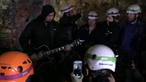 Video: Deftones leader plays acoustic set inside a volcano