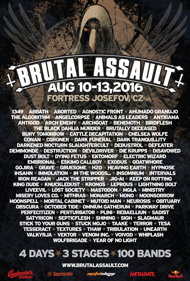10-13.08.2016 Brutal Assault @ Jaromer, Czech Republic