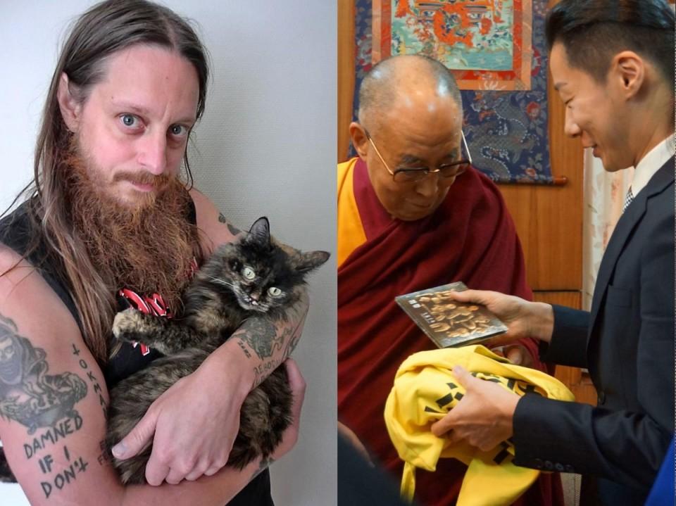 Фото узяті на clrvynt.com та facebook.com/chthonictw — Вокаліст Darkthrone обраний до міської ради, а лідер Chthonic зустрівся з Далай-ламою