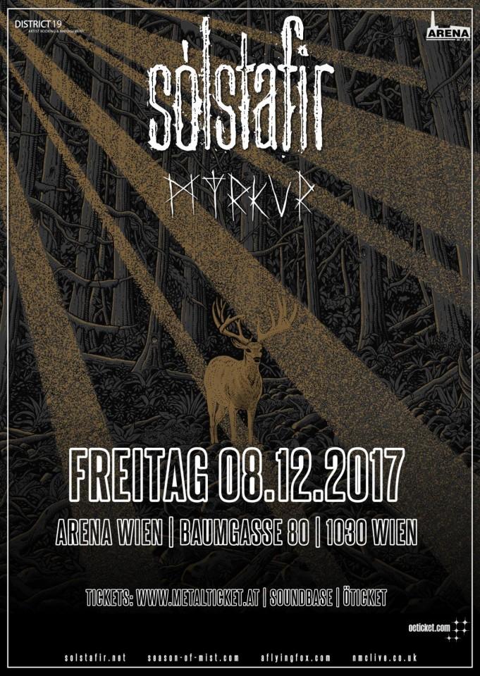 Sólstafir и Myrkur выступят в Вене 8 декабря