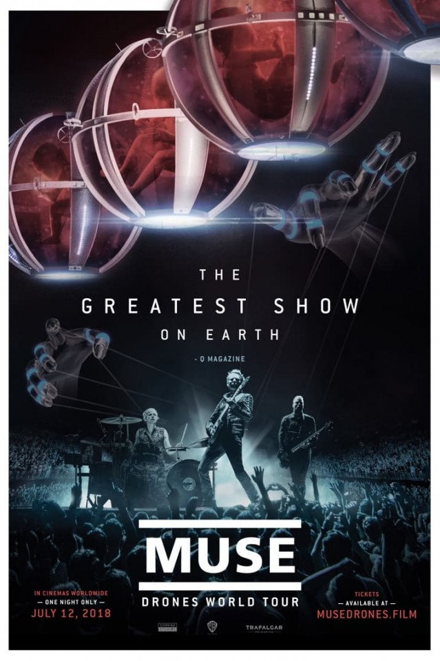 "Muse to screen ""Drones World Tour"" concert film worldwide on July 12"