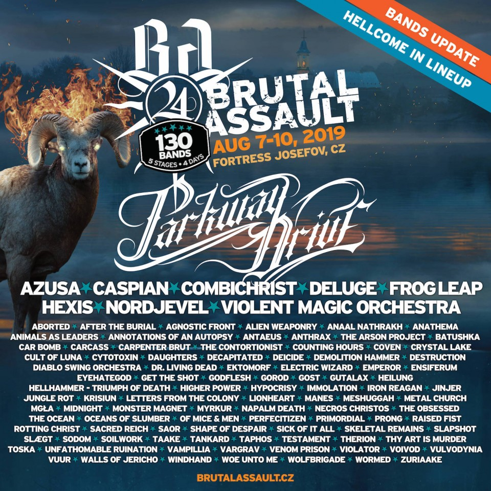 Brutal Assault 2019 announces Parkway Drive, Combichrist, Nordjevel and other bands