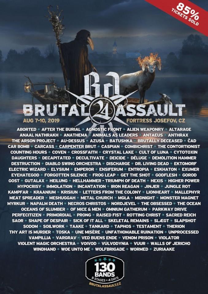 Brutal Assault festival announces final underground lineup
