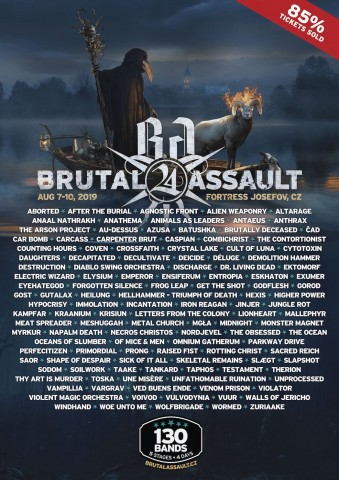 Brutal Assault festival announces final underground lineup