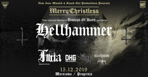 Merry Christless, feat. Hellhammer, Furia, Bölzer, to be held on December 15 in Warsaw