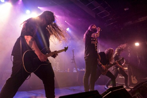 "Photos from live presentation of Harakiri for the sky's new album ""Arson"""